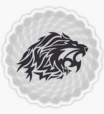 Stoic Lion - Stoic Symbol of Strength - Fight Chaos Transparent Sticker