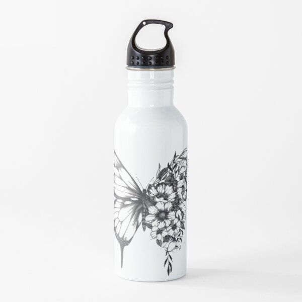 Shawn Mendes butterfly tattoo Water Bottle