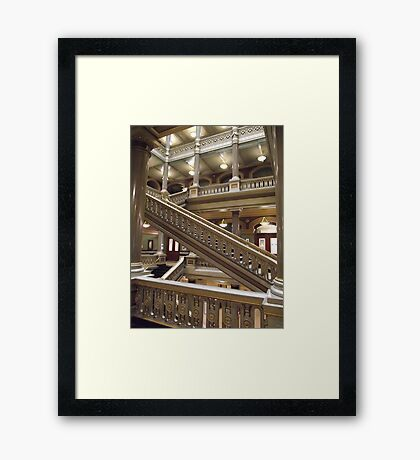 Stairs, Providence City Hall Framed Print