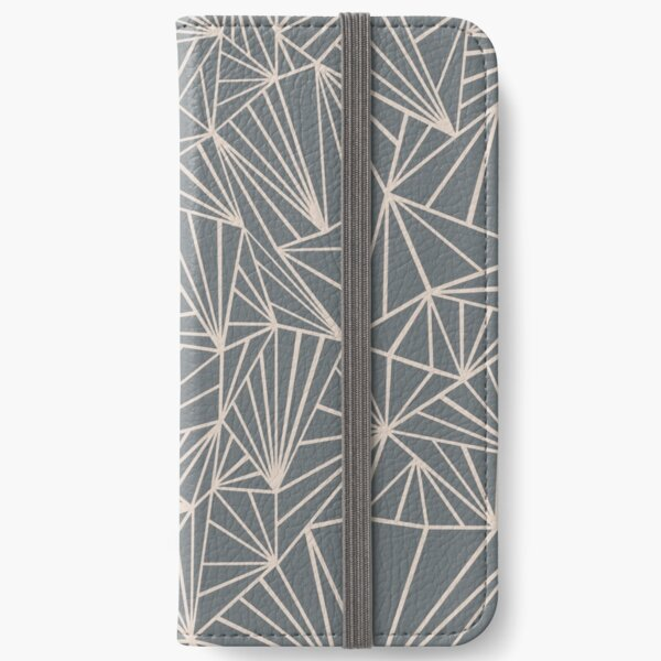 Ab Fan Grey And Nude iPhone Wallet