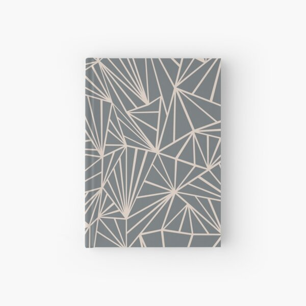 Ab Fan Grey And Nude Hardcover Journal