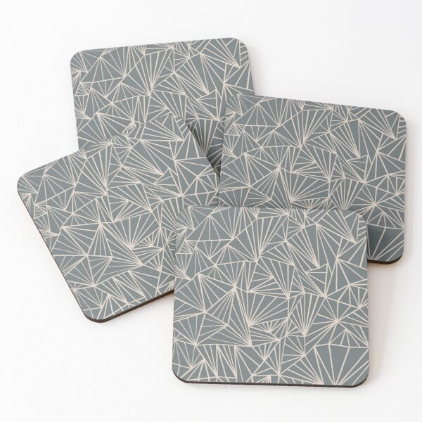 Ab Fan Grey And Nude Coasters (Set of 4)