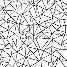 Abstraction Outline Black on White by ProjectM