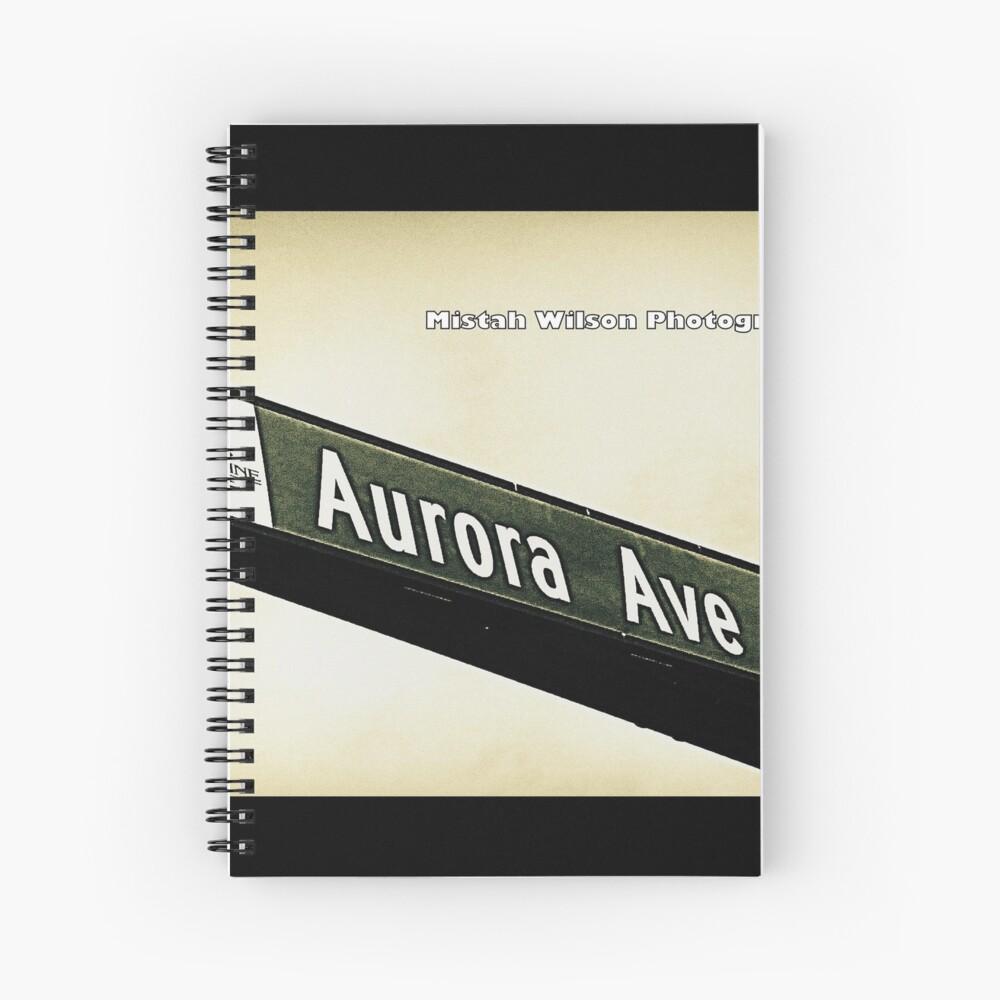 Aurora Avenue North, Shoreline, WA by MWP Spiral Notebook