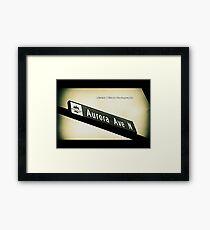 Aurora Avenue North, Shoreline, WA by MWP Framed Print