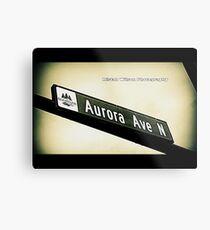 Aurora Avenue North, Shoreline, WA by MWP Metal Print