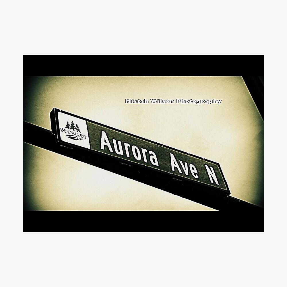 Aurora Avenue North, Shoreline, WA by MWP Photographic Print