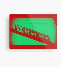 Aurora Avenue North Cherry Watermelon by MWP Metal Print