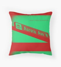 Aurora Avenue North Cherry Watermelon by MWP Throw Pillow