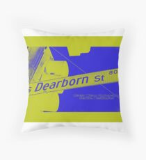 800 South Dearborn Street GoldBleu, Seattle, WA by MWP Throw Pillow