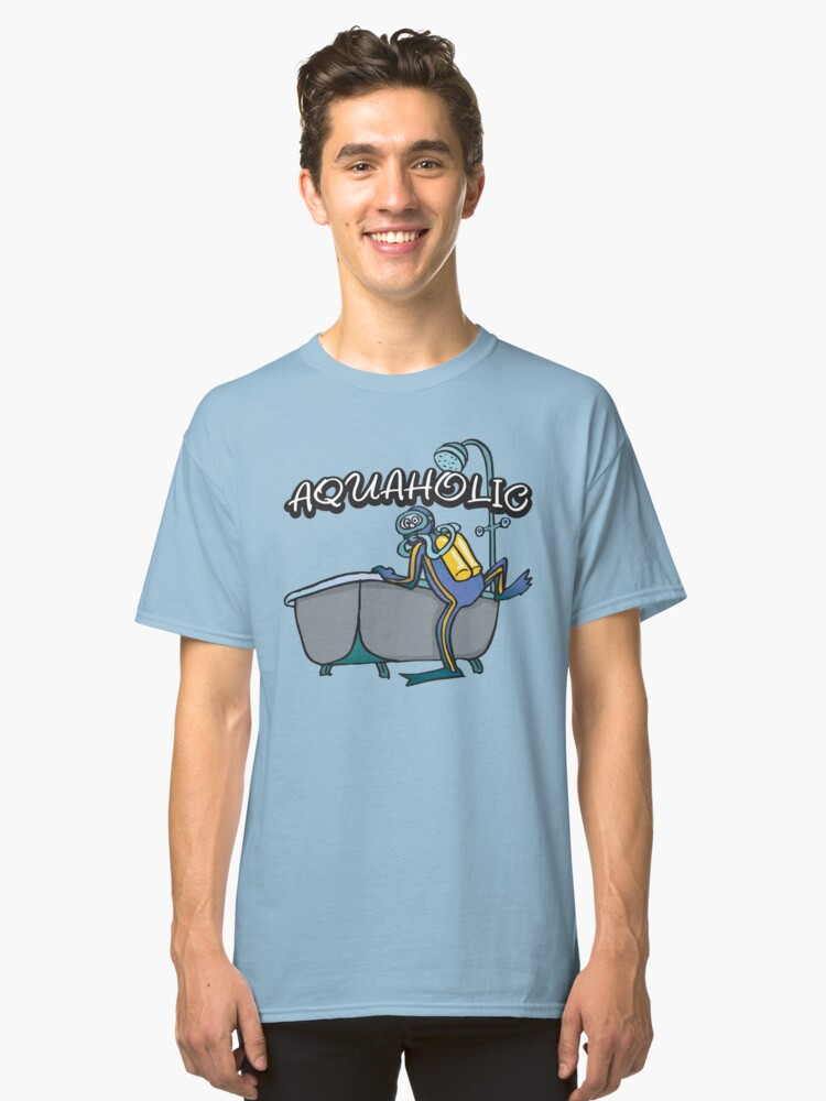 Funny SCUBA Classic T-Shirt Front
