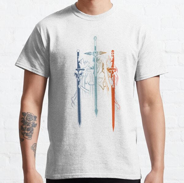 Kirito y Asuna forman Sword Art Online Camiseta clásica