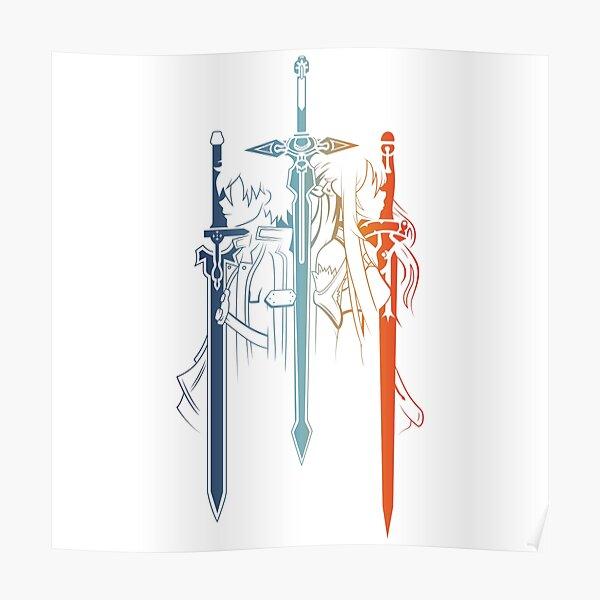 Kirito and Asuna form Sword Art Online Poster