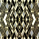 Art Deco Grey Zoom Gold by ProjectM