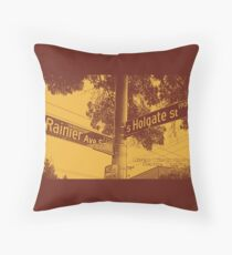 2200 Rainier Avenue South & 1900 South Holgate Street CHOCO LATTE Seattle, WA by MWP Throw Pillow