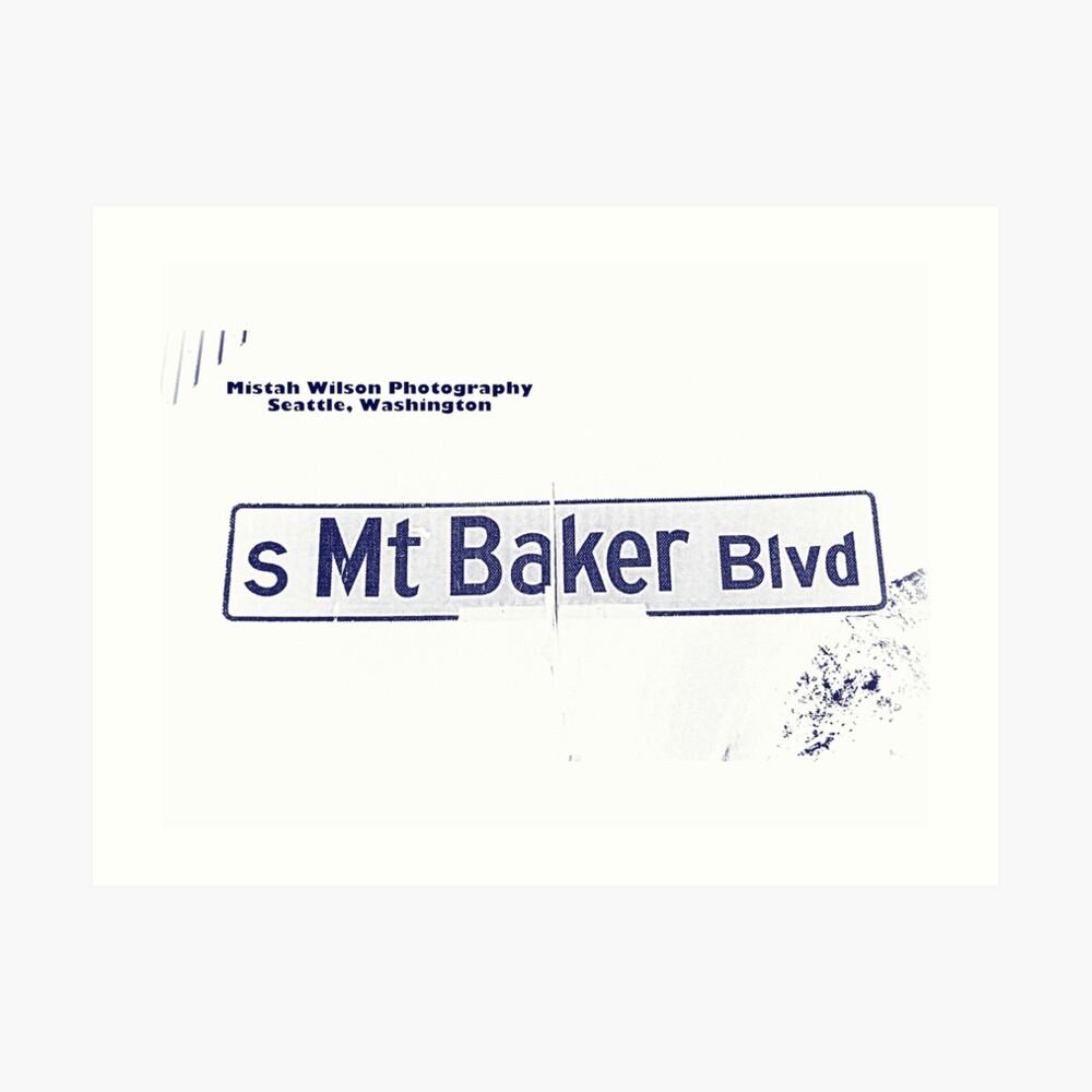 South Mount Baker Boulevard, Dark Ice, Seattle, WA by MWP Art Print