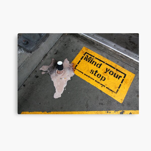 Mind Your Step, Newtown Train Station, 2009 Canvas Print