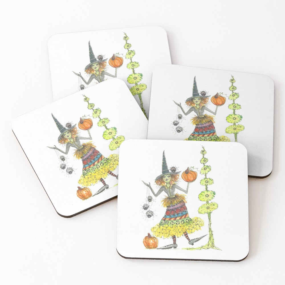 Wacky Witch and Friends Coasters (Set of 4)