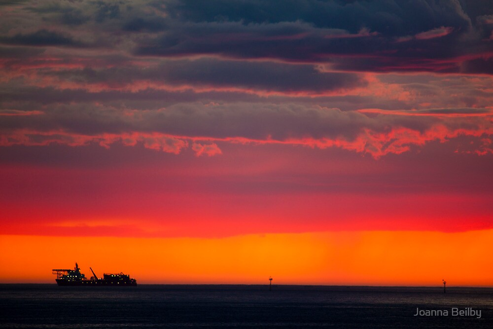 Shipping at Sunset by Joanna Beilby