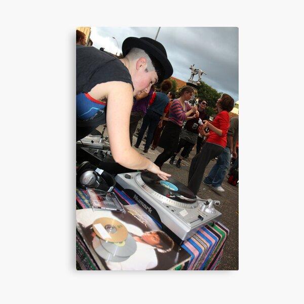 DJ for MJ, Newtown, 2009 Canvas Print