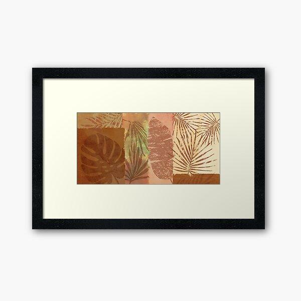 Tropical Leaves Collage Framed Art Print
