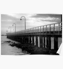 Port Melbourne Pier Before A Storm Poster