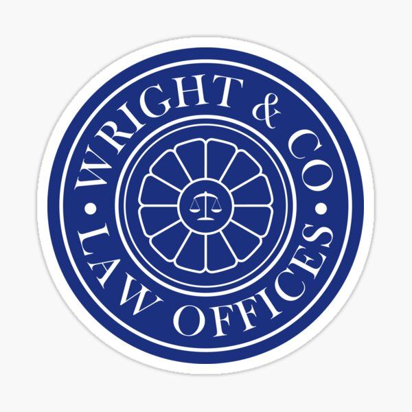 Wright & Co Law Offices Sticker