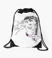Harriet Beecher Stowe Picture Quote - The Little Lady Drawstring Bag