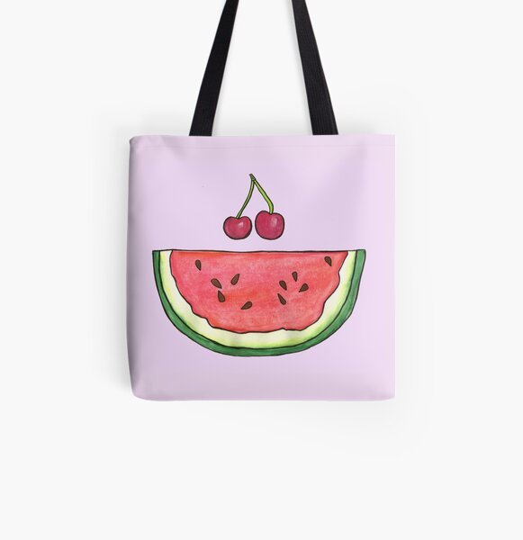 Watermelon Smile by Jayne Kitsch All Over Print Tote Bag