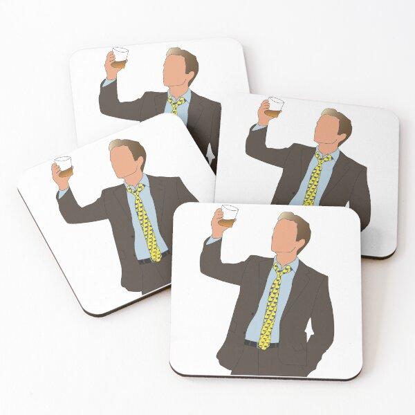 Barney's Ducky Tie Coasters (Set of 4)
