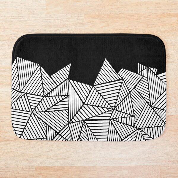 Abstract Mountain Black Bath Mat