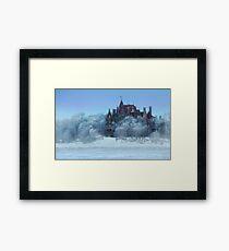 Frosted Castle Framed Print