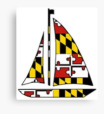 Maryland flag sailboat Canvas Print