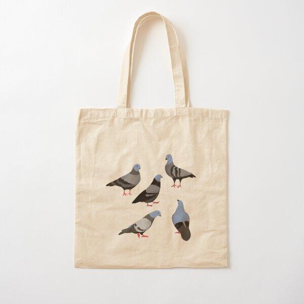 Design 33 - The Pigeons Cotton Tote Bag