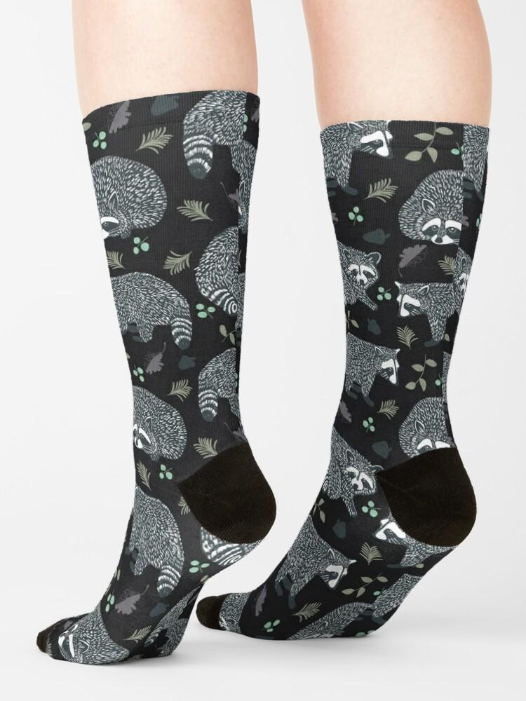 Alternate view of Raccoons! Design 42 / 365 Days of Design Socks