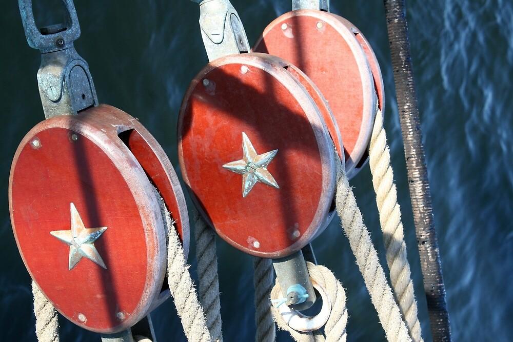 Nautical Trio - USCG Barque Eagle by Dragynfly