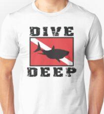 Shark SCUBA Flag Dive Deep Unisex T-Shirt