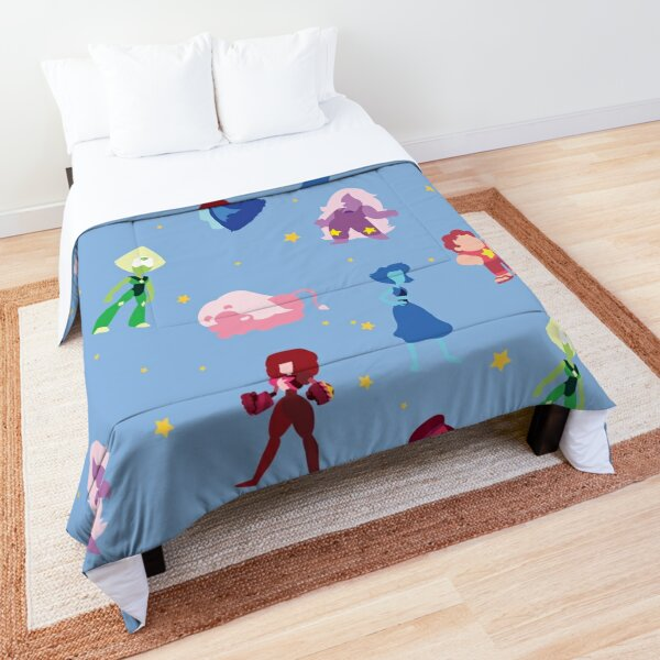 Steven Universe Characters and Stars Pattern Comforter