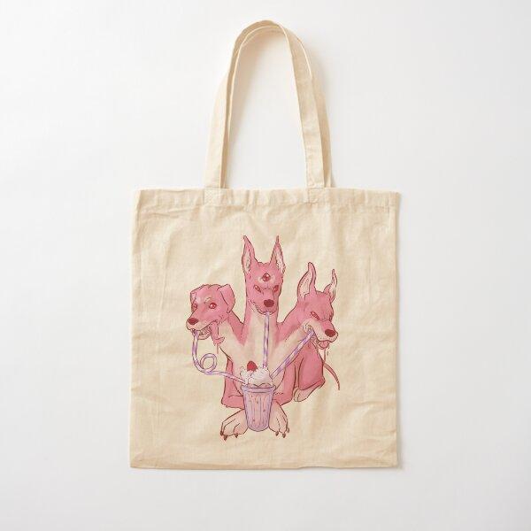 Strawberry Cerberus Cotton Tote Bag