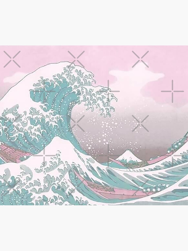 Pastel The Great Wave off Kanagawa by Freshfroot