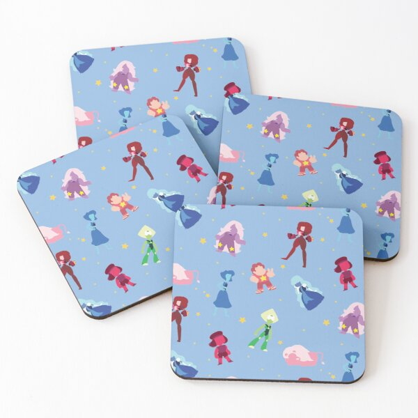 Steven Universe Characters and Stars Pattern Coasters (Set of 4)