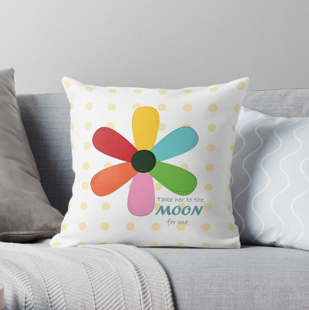 Take her to the moon for me Throw Pillow