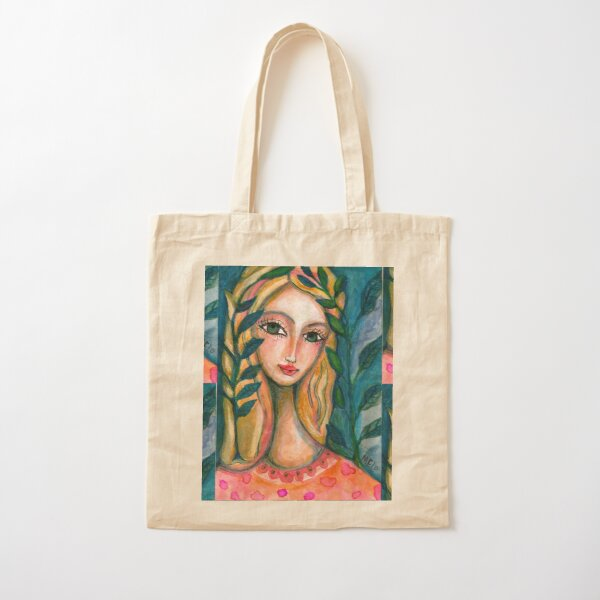 Nature Girl Cotton Tote Bag