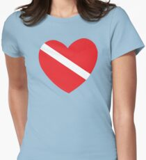 Love SCUBA Womens Fitted T-Shirt