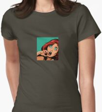 """Apama B """"Startled"""" Women's Fitted T-Shirt"""