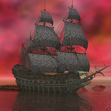 Mariner's Nemesis - Flying Dutchman by Sazzart