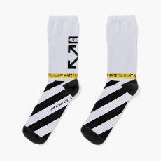 Off White Cover Black Stripes Socks