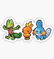 Hoenn Region Pixel Starters Sticker