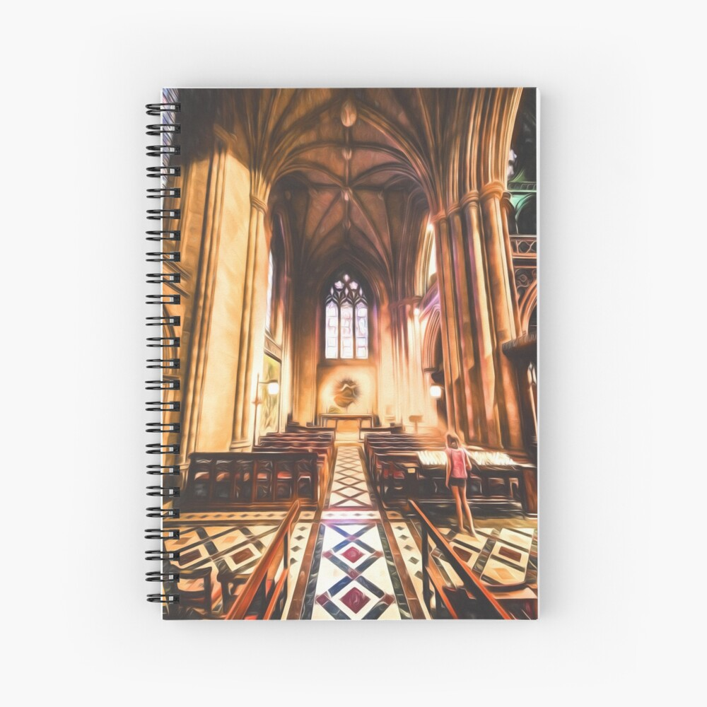 Divine Light (digital painting) Spiral Notebook