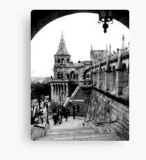 Budapest in Black and White Leinwanddruck